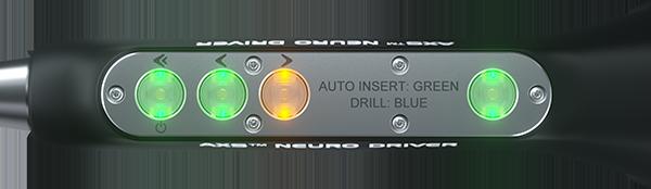 AXS Neuro Driver_Auto insertion screw mode_green light