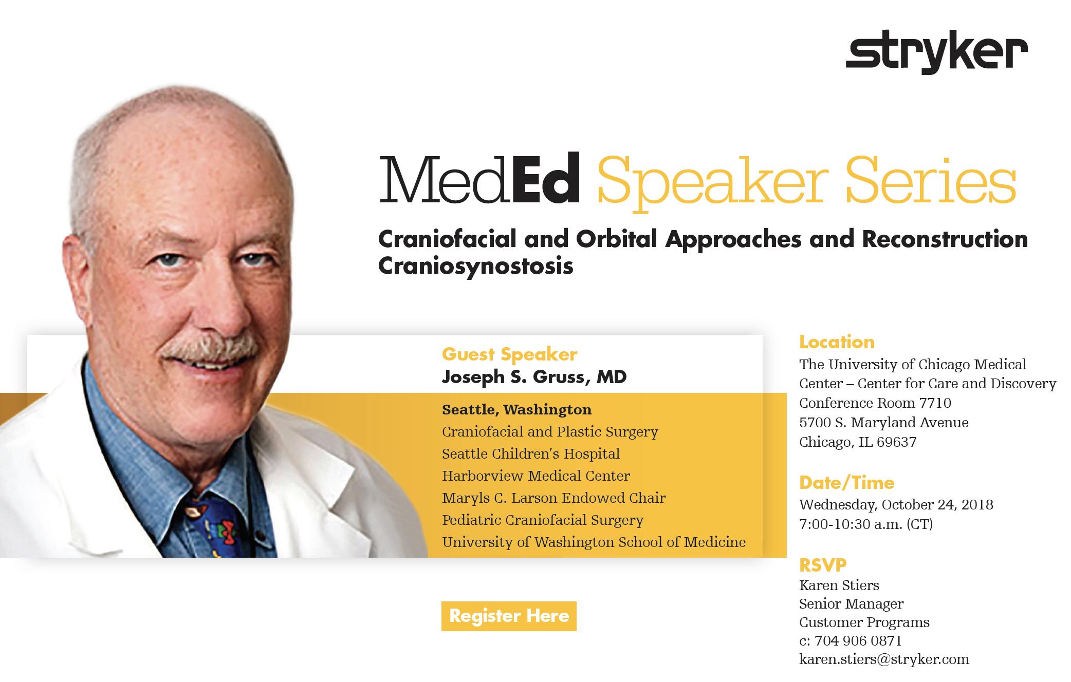 Stryker's Speaker Series: Craniofacial and Orbital
