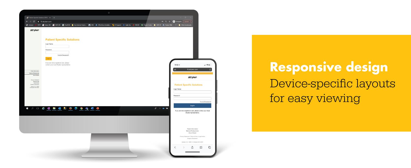 Responsive design iD Portal