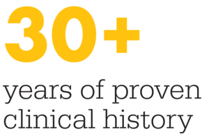 30 years of proven clinical history